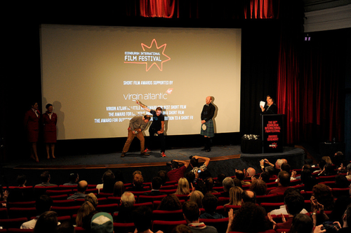 Monkey Love Experiments picks up an award at the EIFF 2014
