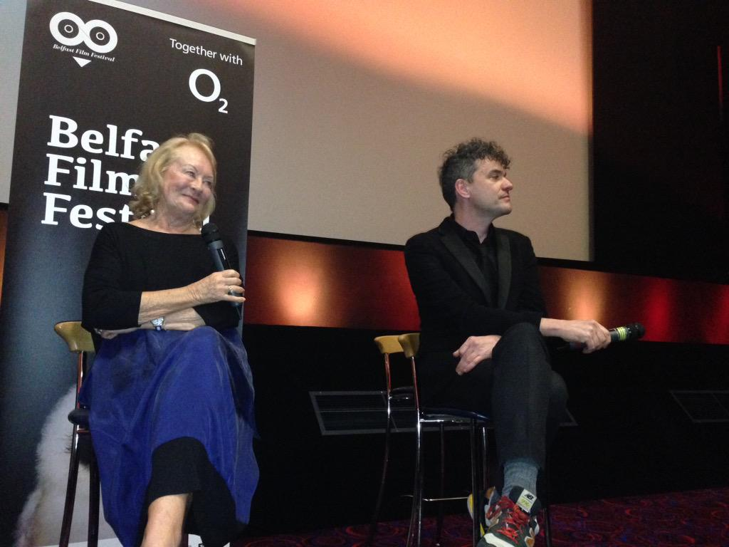 Mark Cousins and actress Helena Bereen at the world premier of I Am Belfast