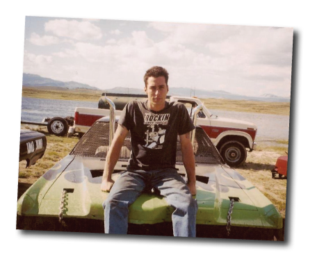 Todd Gold, President. Back in his demolition derby days.