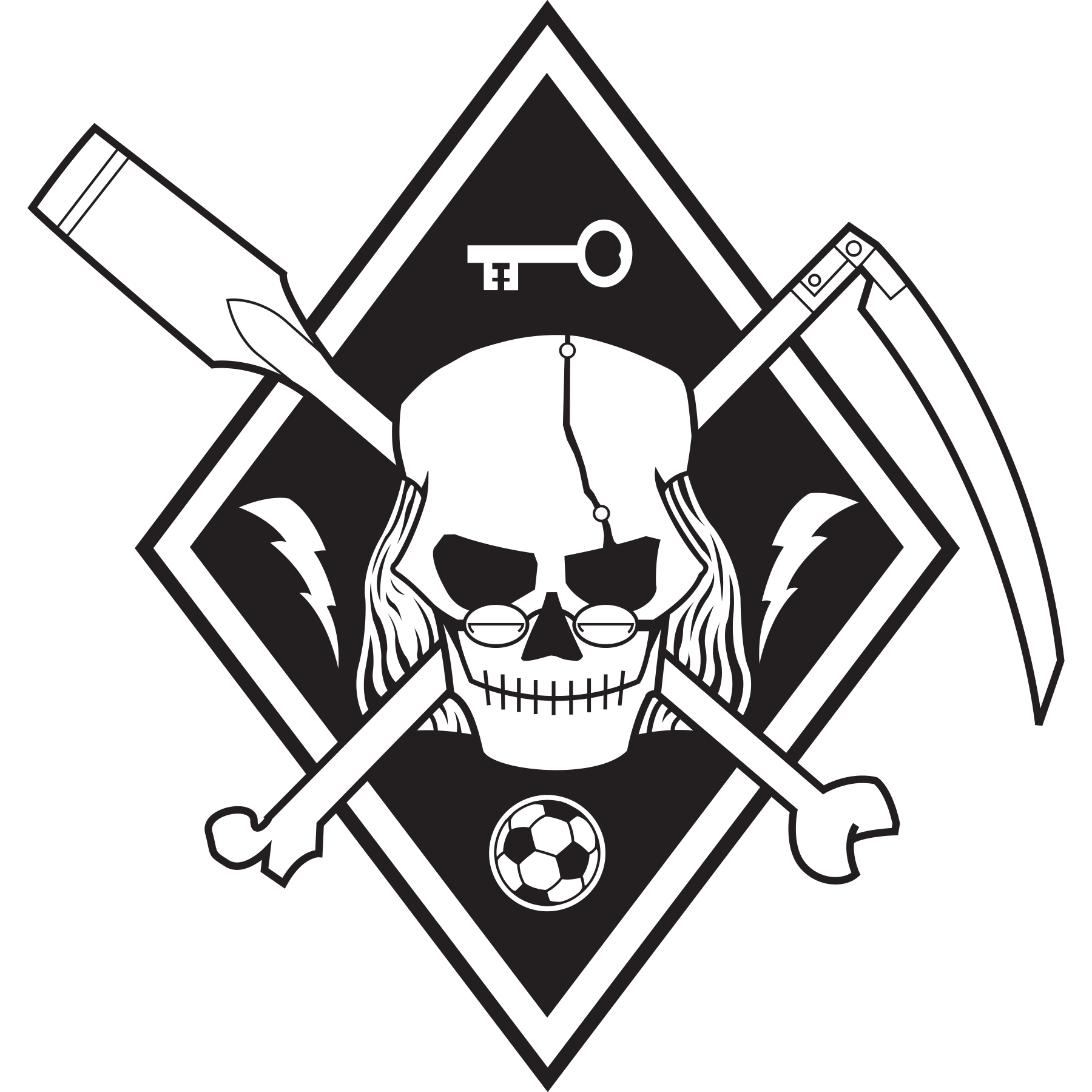 Secondary Logo - Black & White - Transparent Background