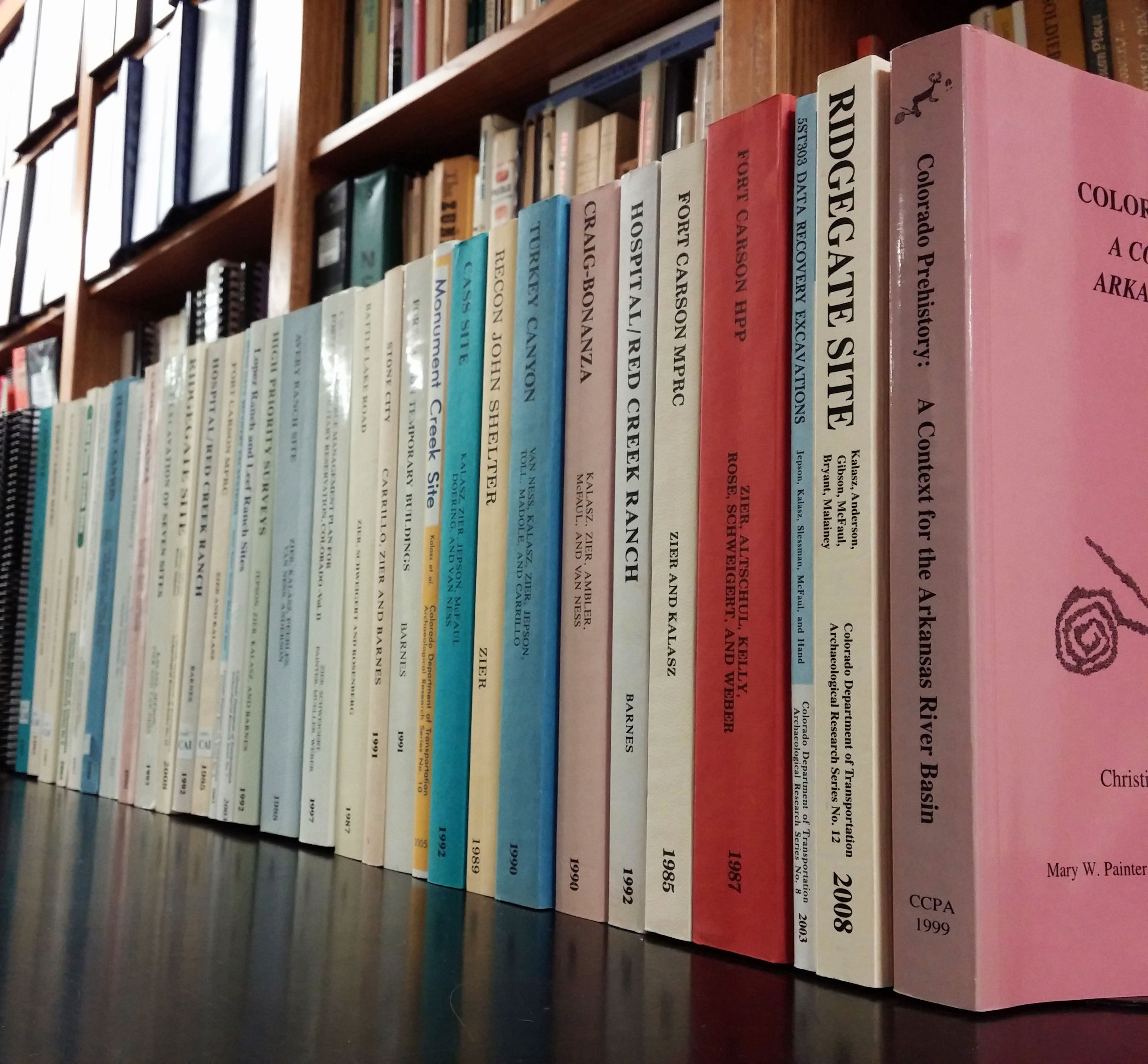 Centennial maintains a full library of technical reports and general anthropological/archaeological references.