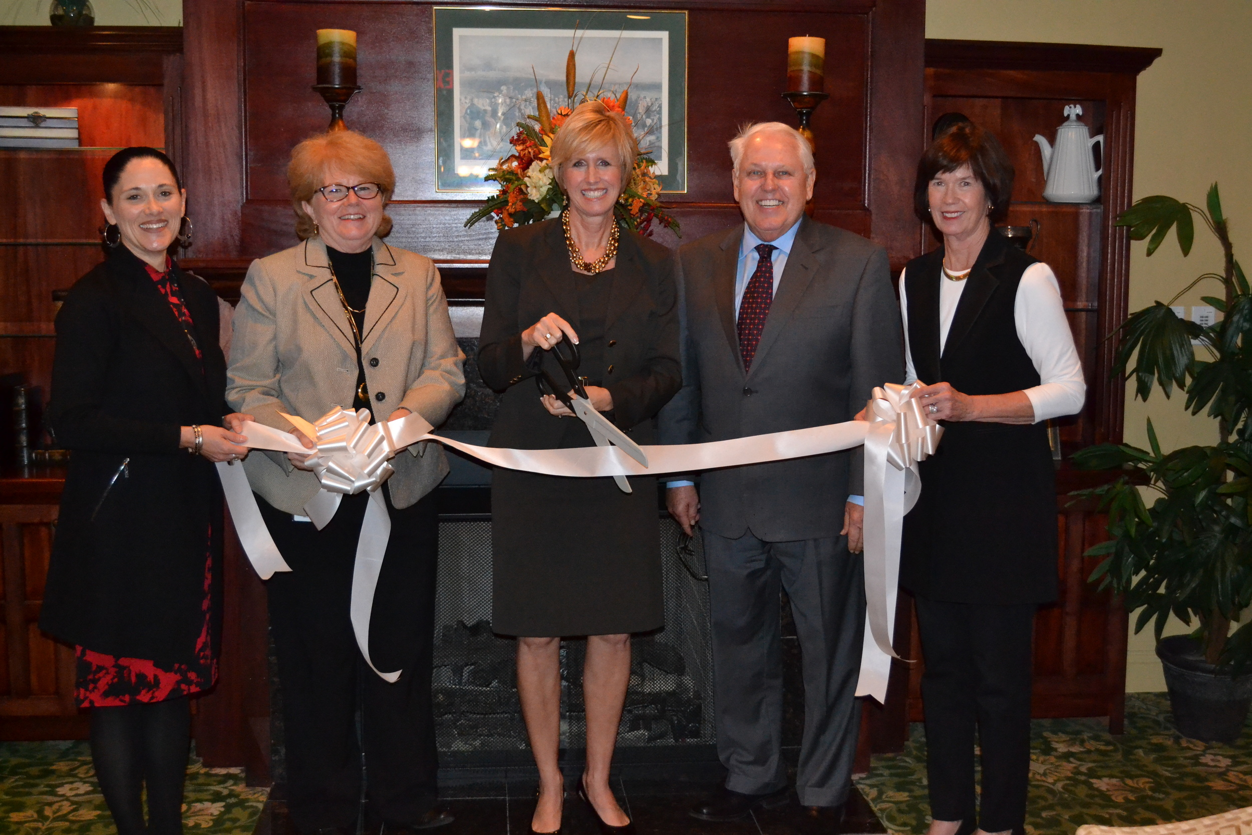 Board of Advisors at CELI's Ribbon Cutting Ceremony: Pam Weber, Linda Gill, Ron Beshear, & Shannon Carter (Not pictured: Nancy Graeter)