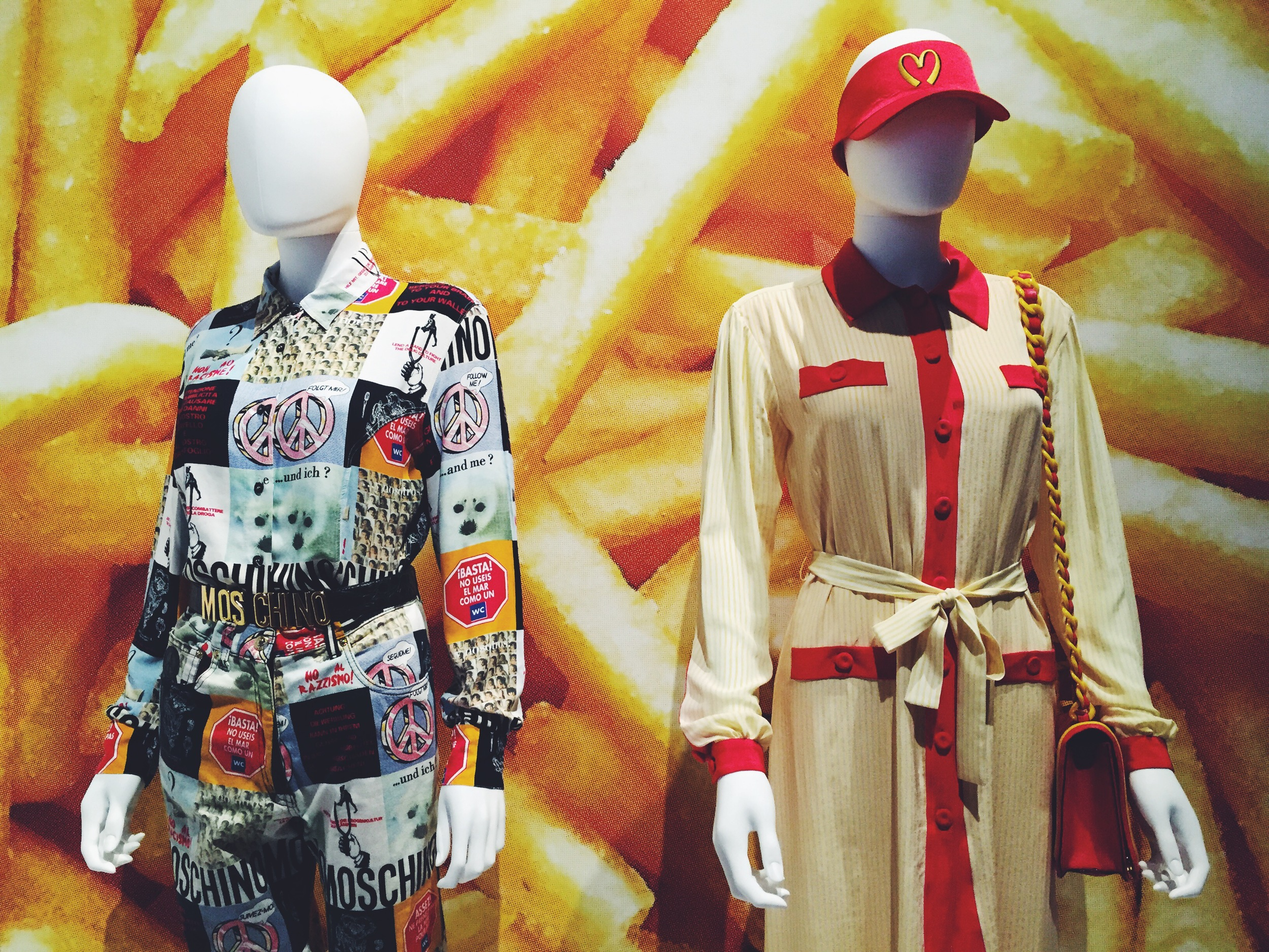 Moschino at  Politics of Fashion / Fashion of Politics  at the Design Exchange.