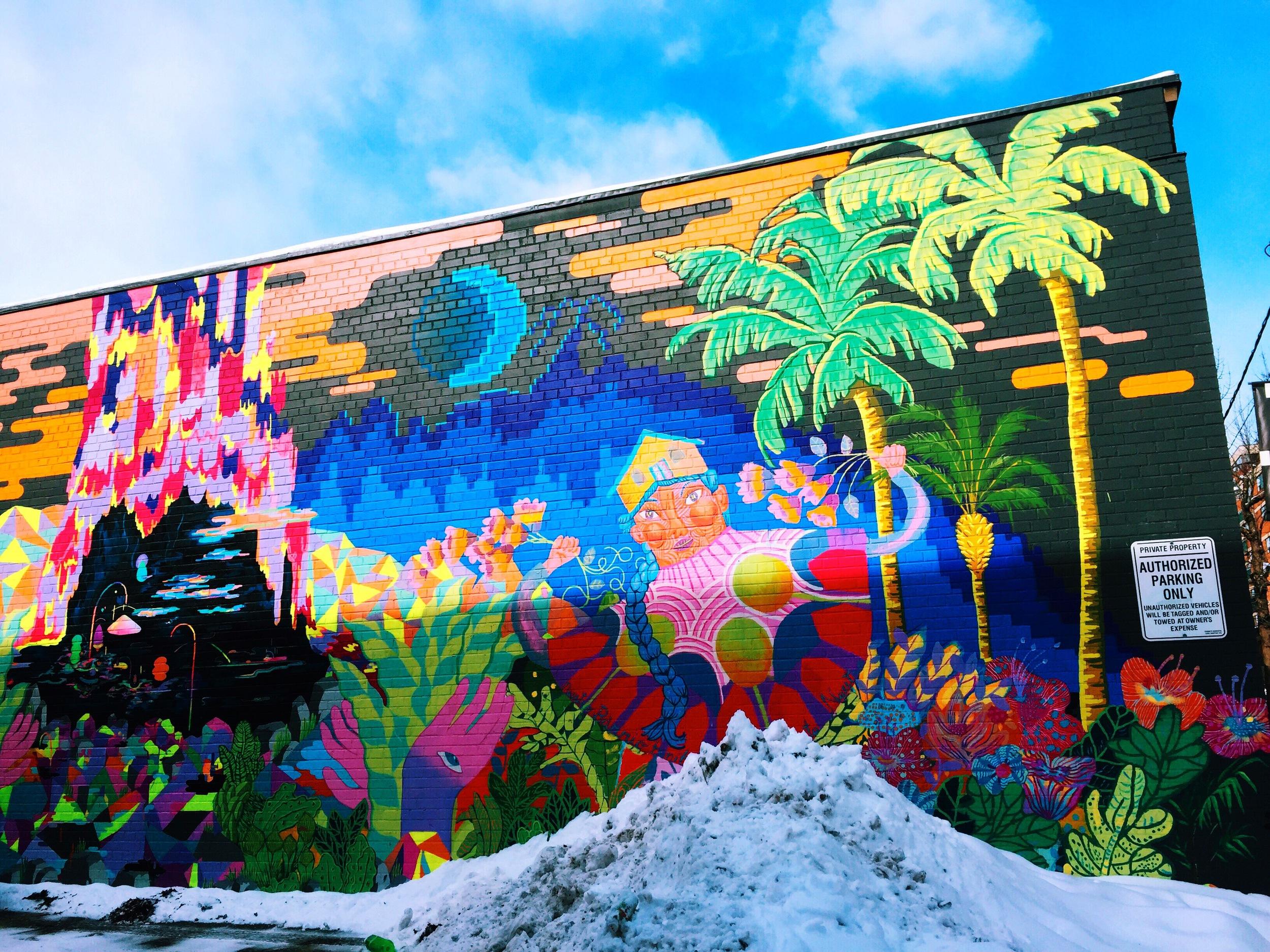 Street art on theOCADU campus.