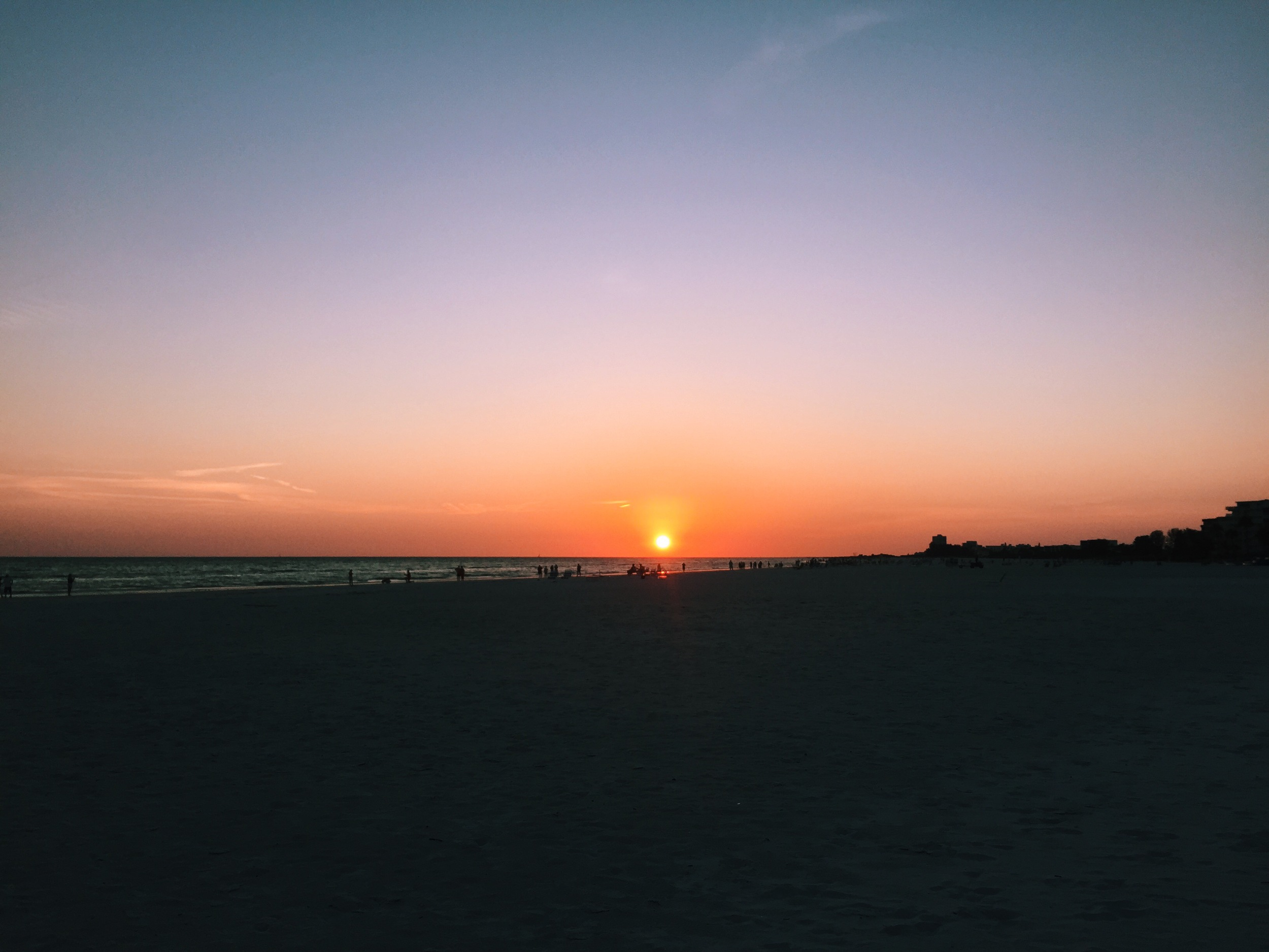 Sunset over Siesta Key.