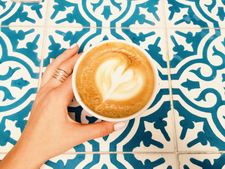 Latte art at the beautiful Maman.