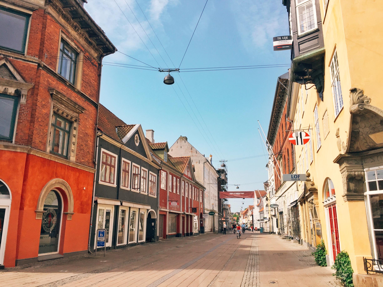 The old streets of Helsingør.