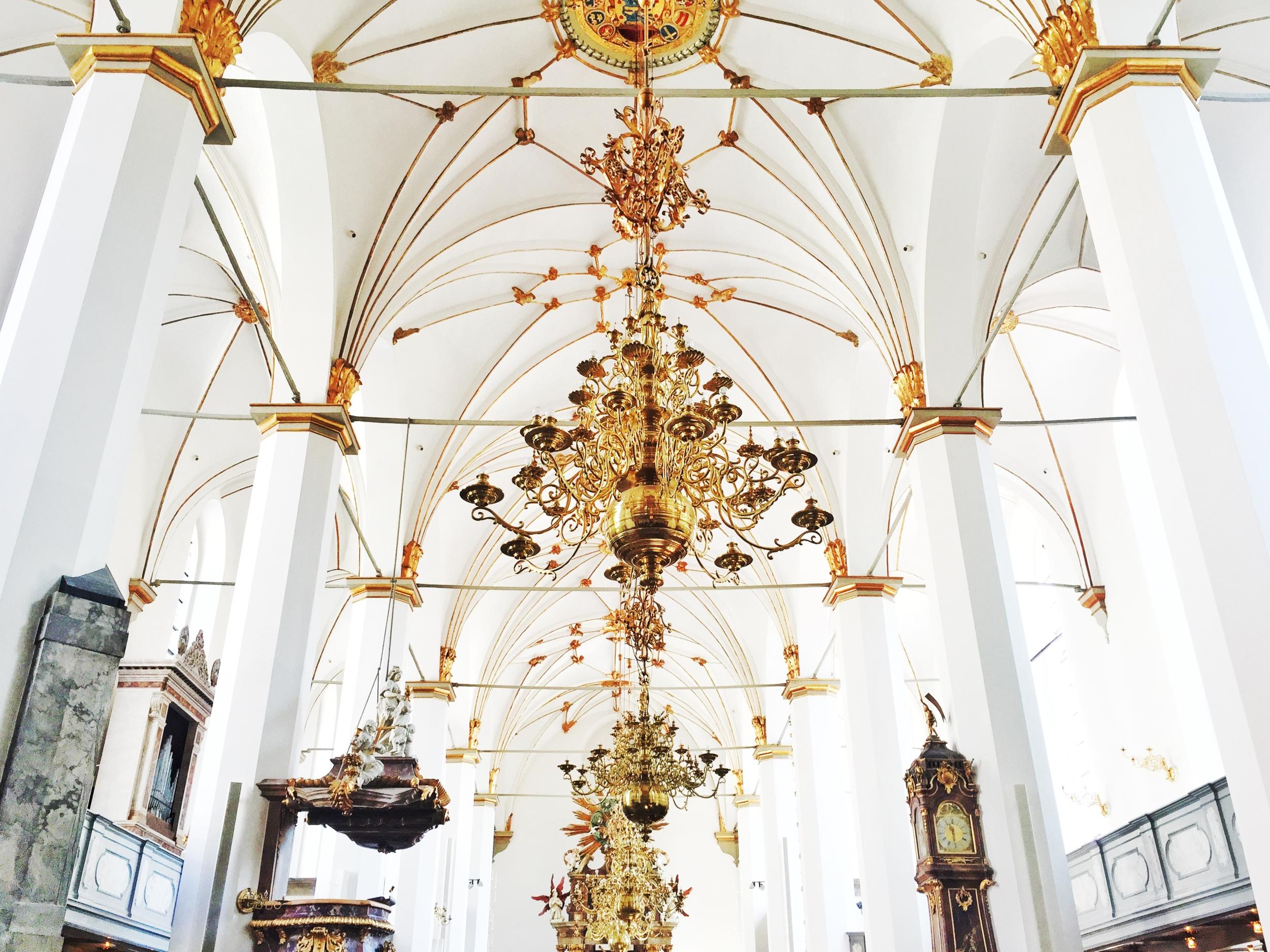 Inside the Trinitatis Church.