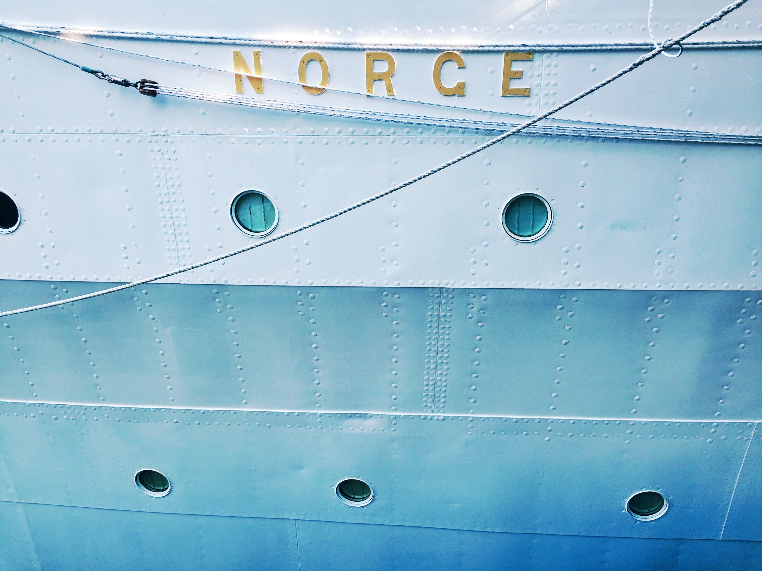 I stumbled upon a Norweigan ship docked at Sugar Beach.