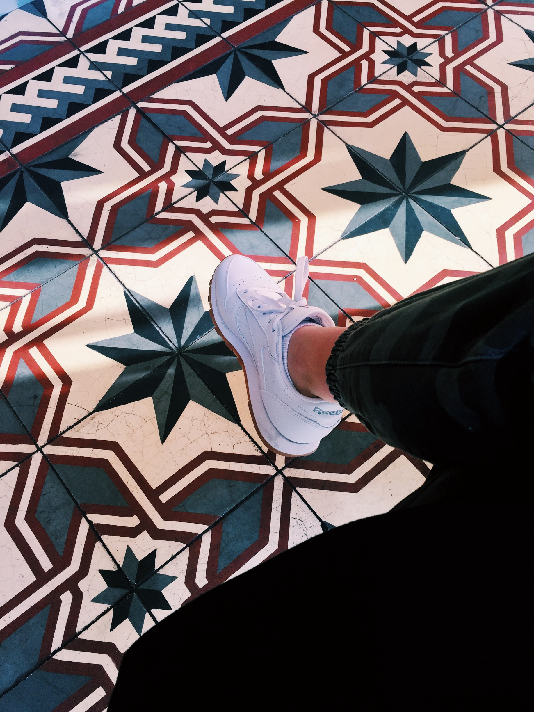 White shoes and a retro floor at  Balzac's .