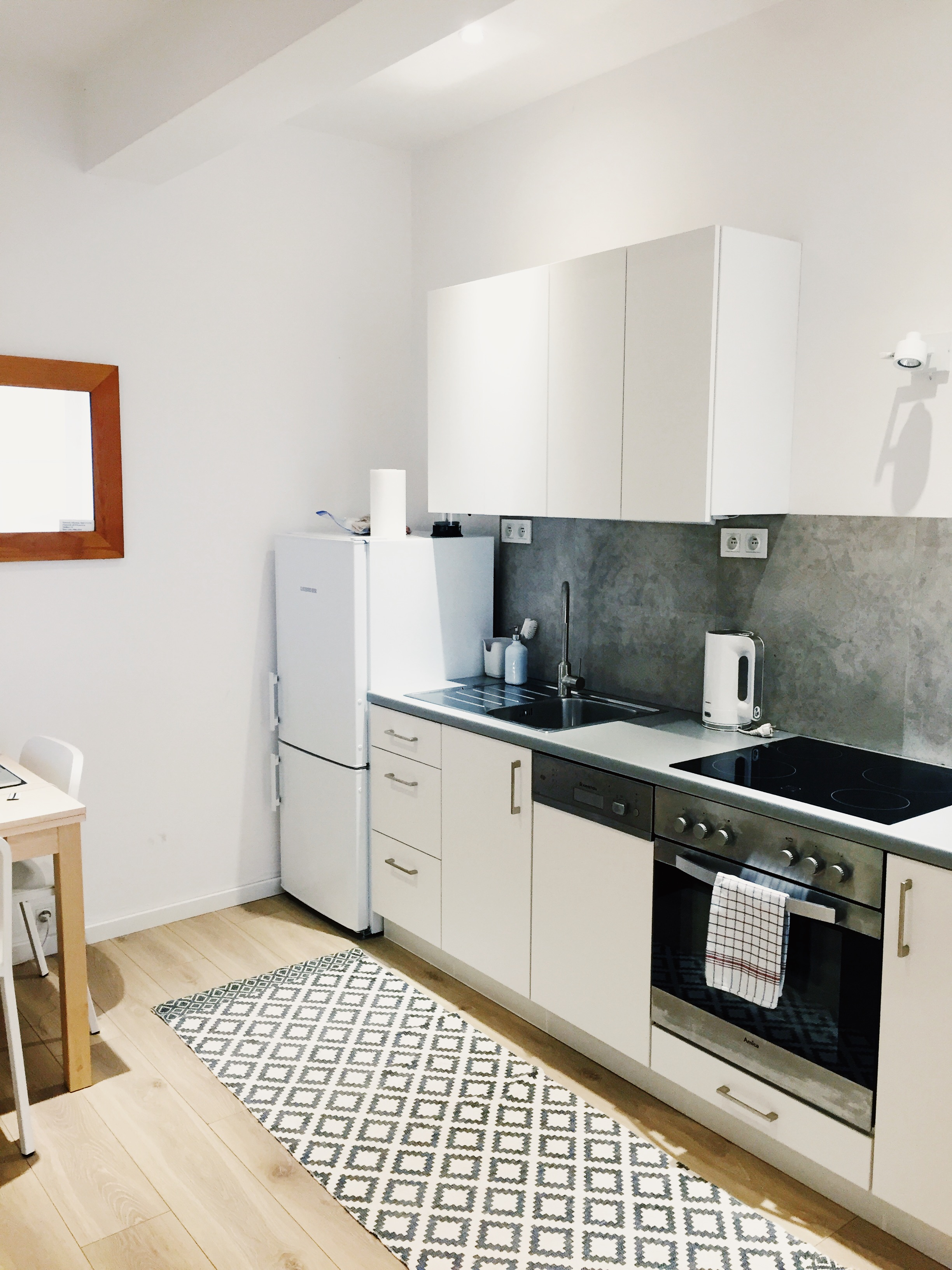 Our minimalistic abode in Kraków.