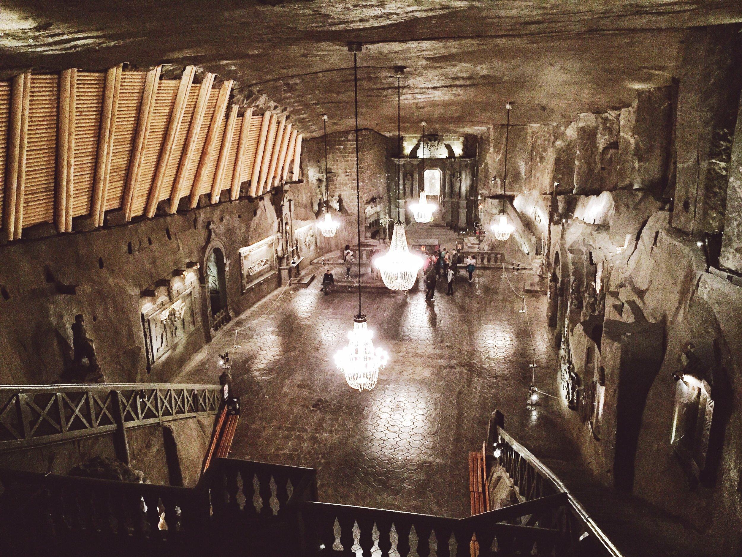The  Wieliczka Salt Mine .