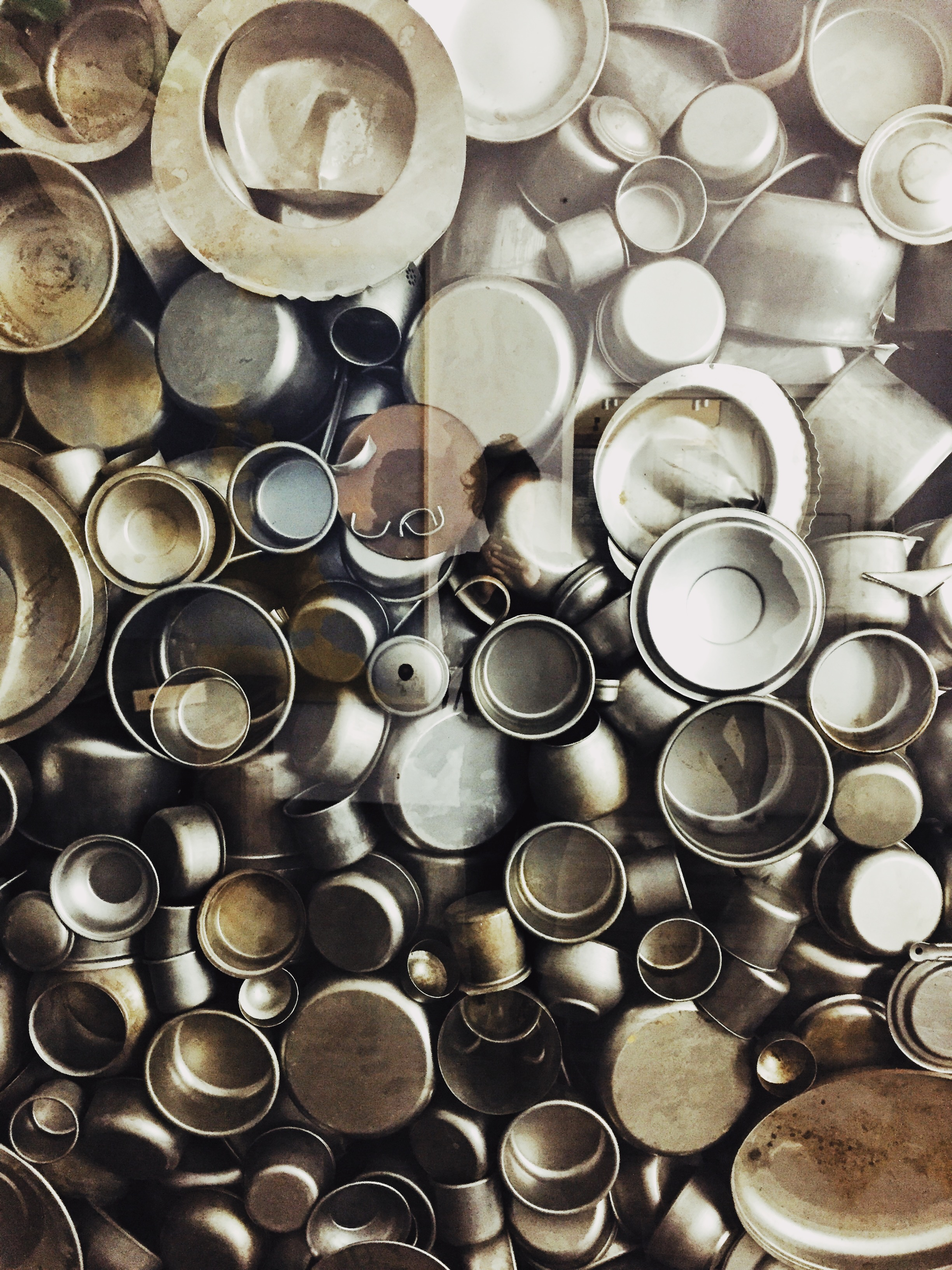 An art installation in  Oskar Schindler's Enamel Factory.