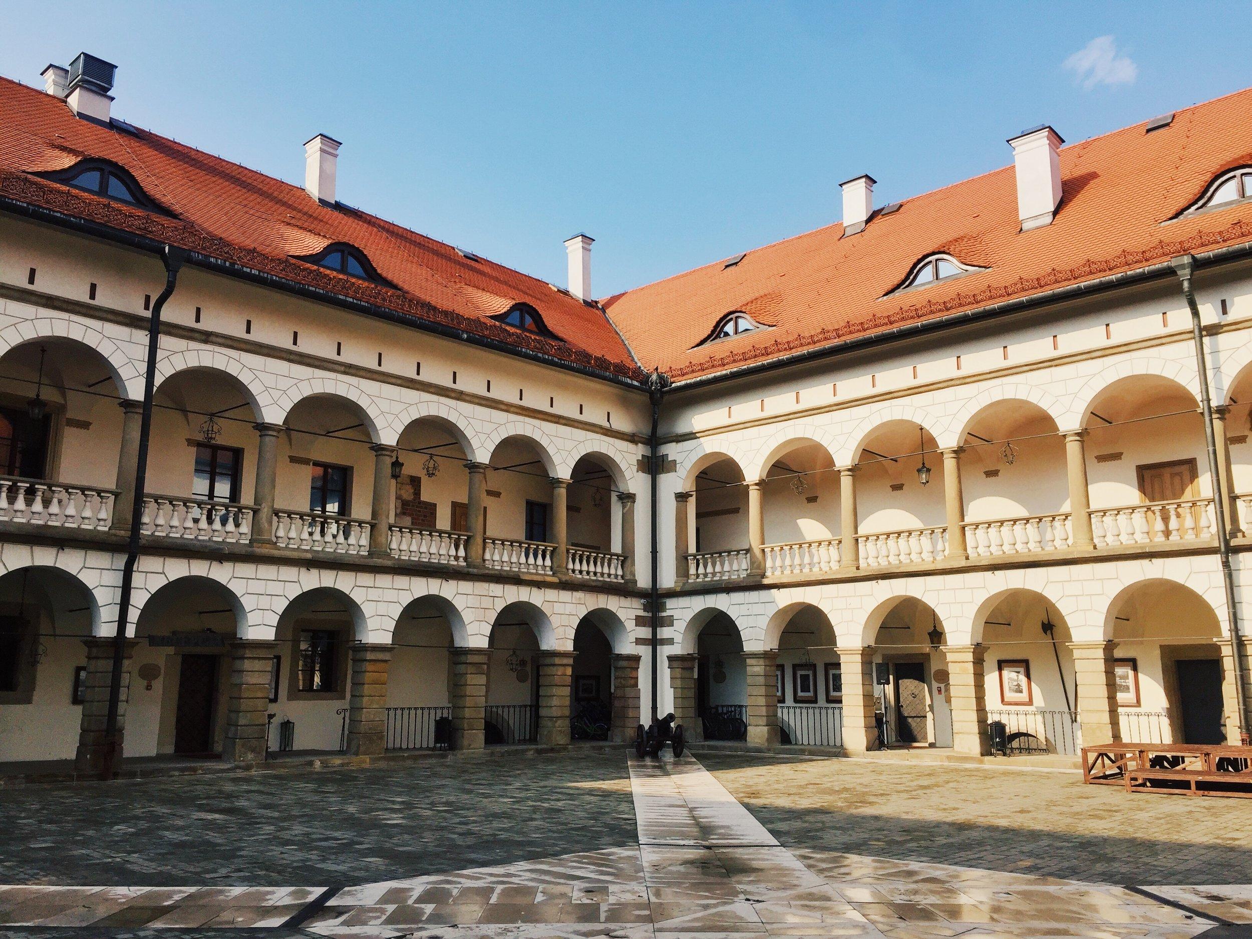 Zamek Królewski w Niepołomicach -Niepołomice Castle. The sun finally came out!