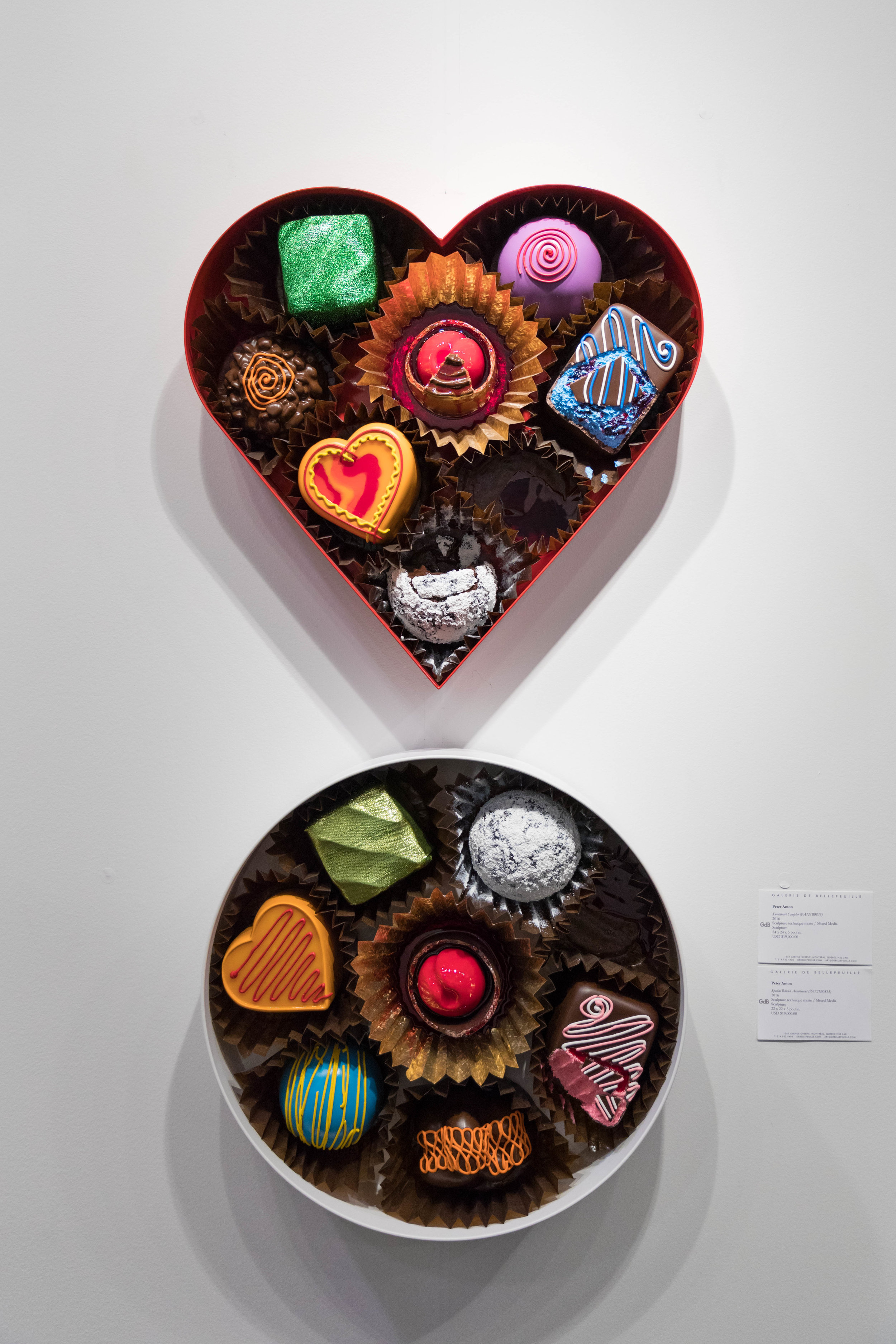 (T)  Sweetheart Sampler (PA721B0835),  2016 and (B)  Special Round Assortment (PA721B0833) 2016  Peter Anton
