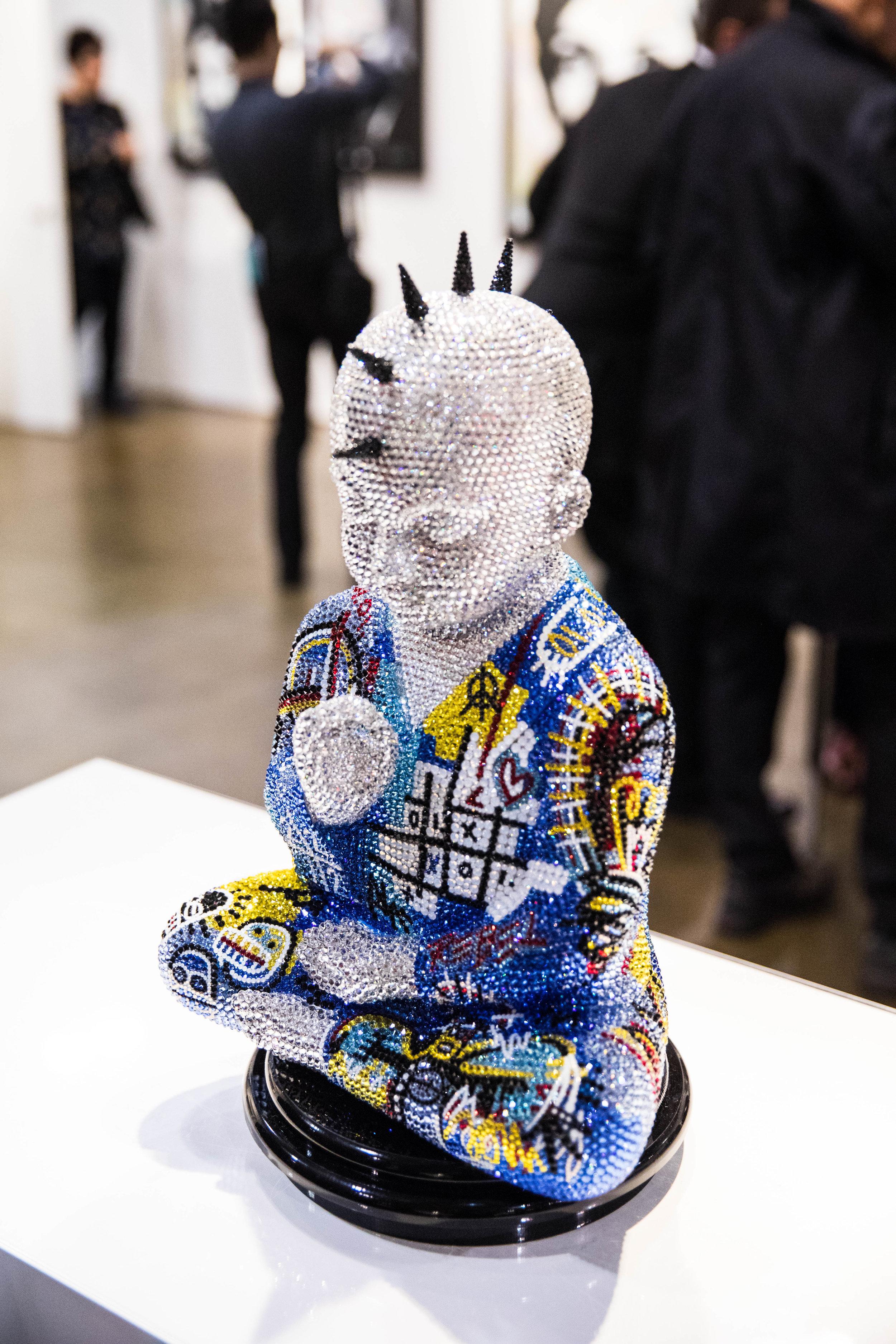"PUNKBUDDHA ""Untitled Masterpiece II"" feat. Basquiat , 2017  Metis Atash"