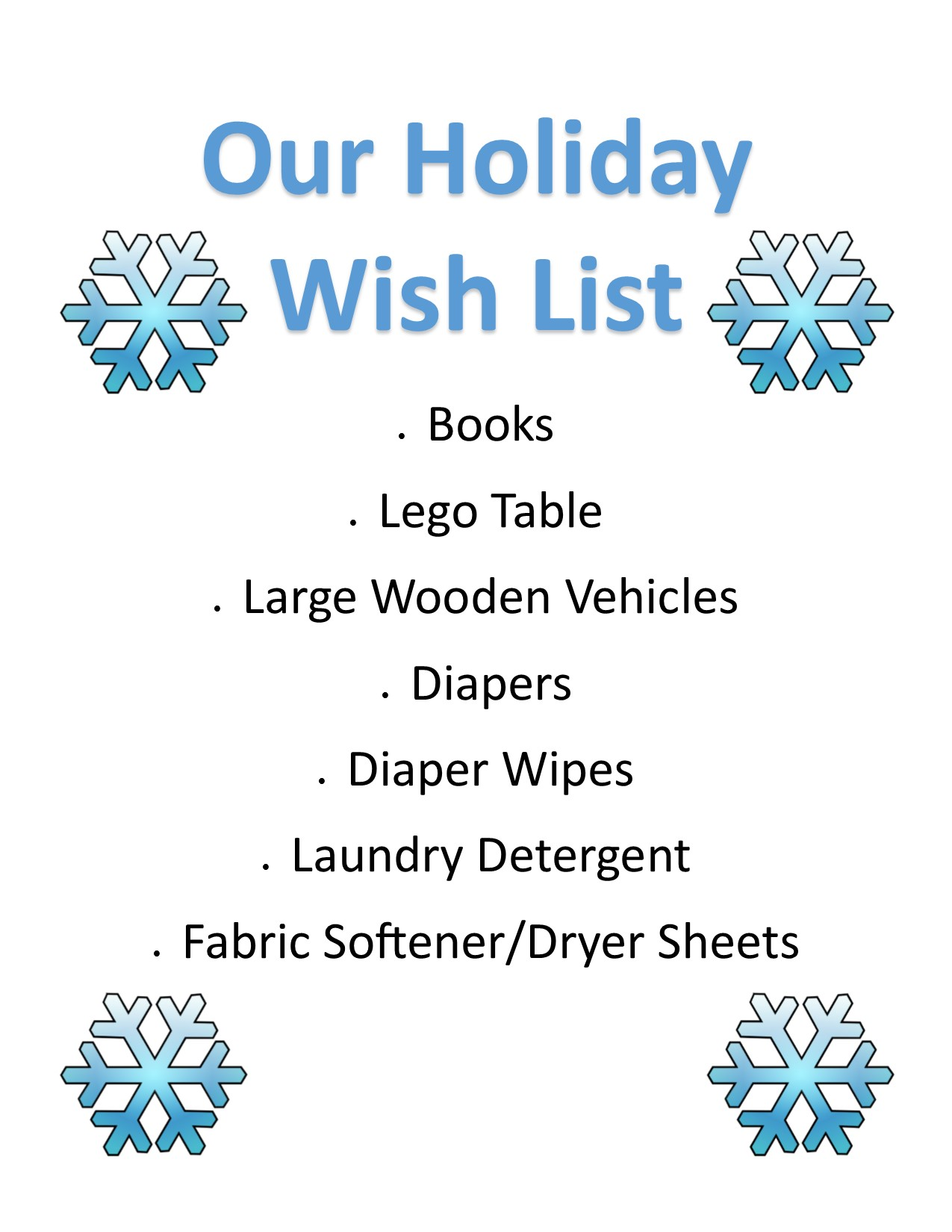 Our Holiday Wish List 2016