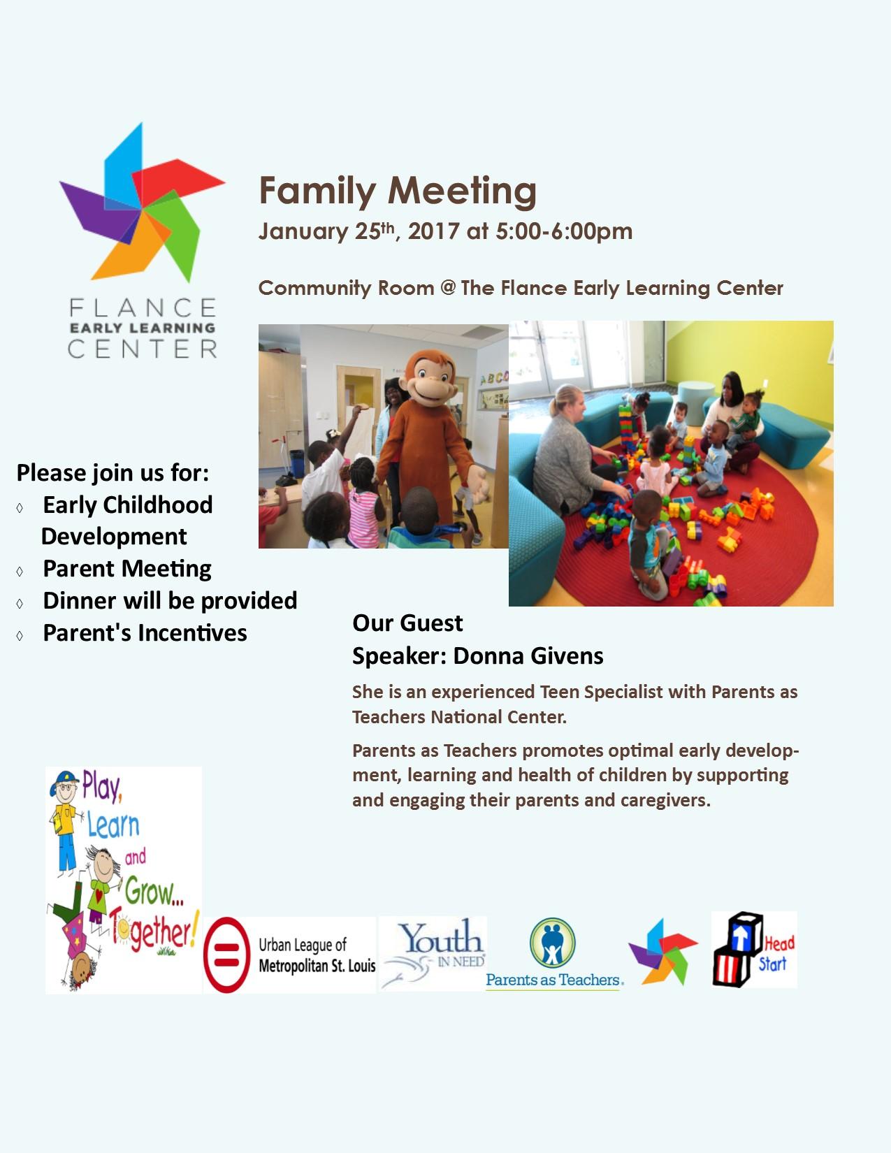 Parent Meetings 2017