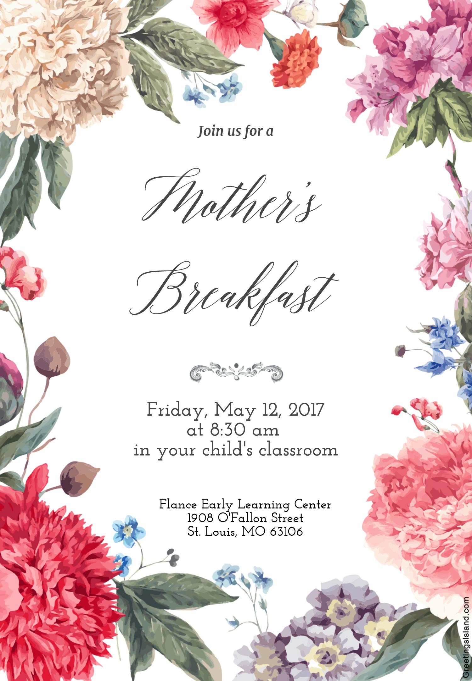 Mother's Breakfast 2017
