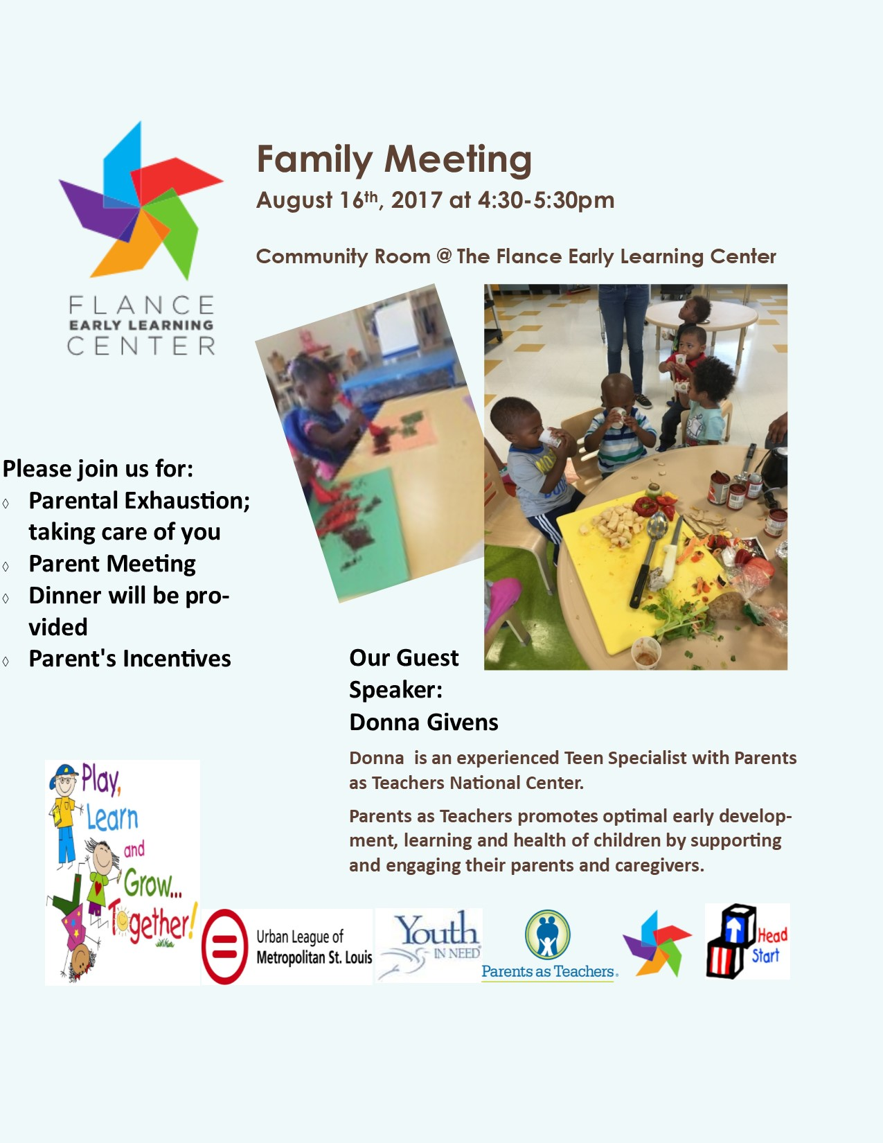Parent Meeting August 2017