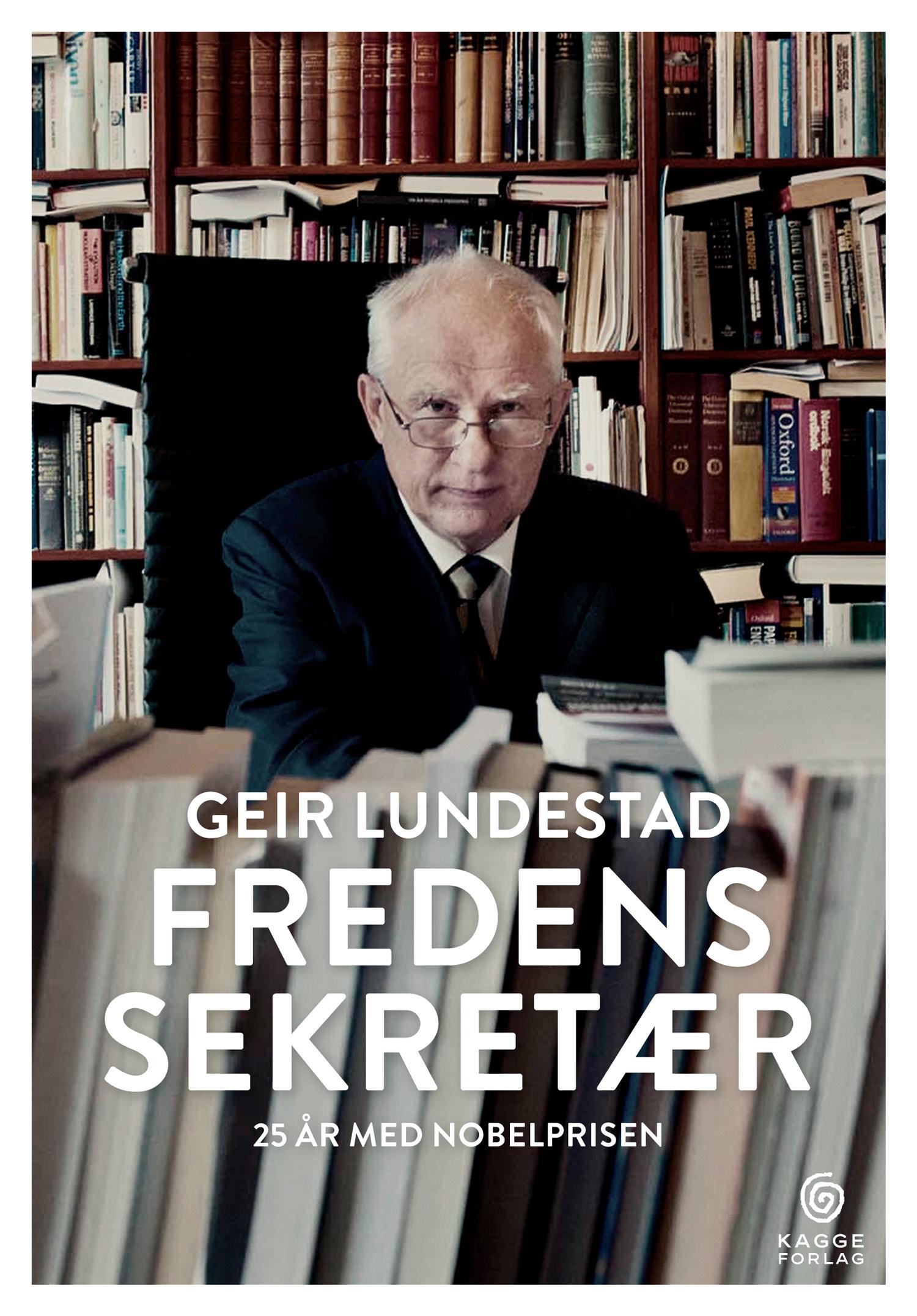 """Geir Lundestads bok """"Fredens sekretær"""" ble utgitt i september i år på Kagge Forlag ."""