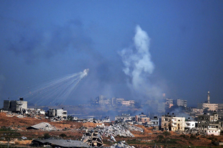 Bomberegn over Gaza i januar 2013. Foto og Copyright:ChameleonsEye