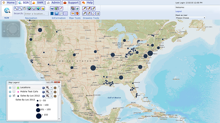 Quickly see where your sales are across your markets.