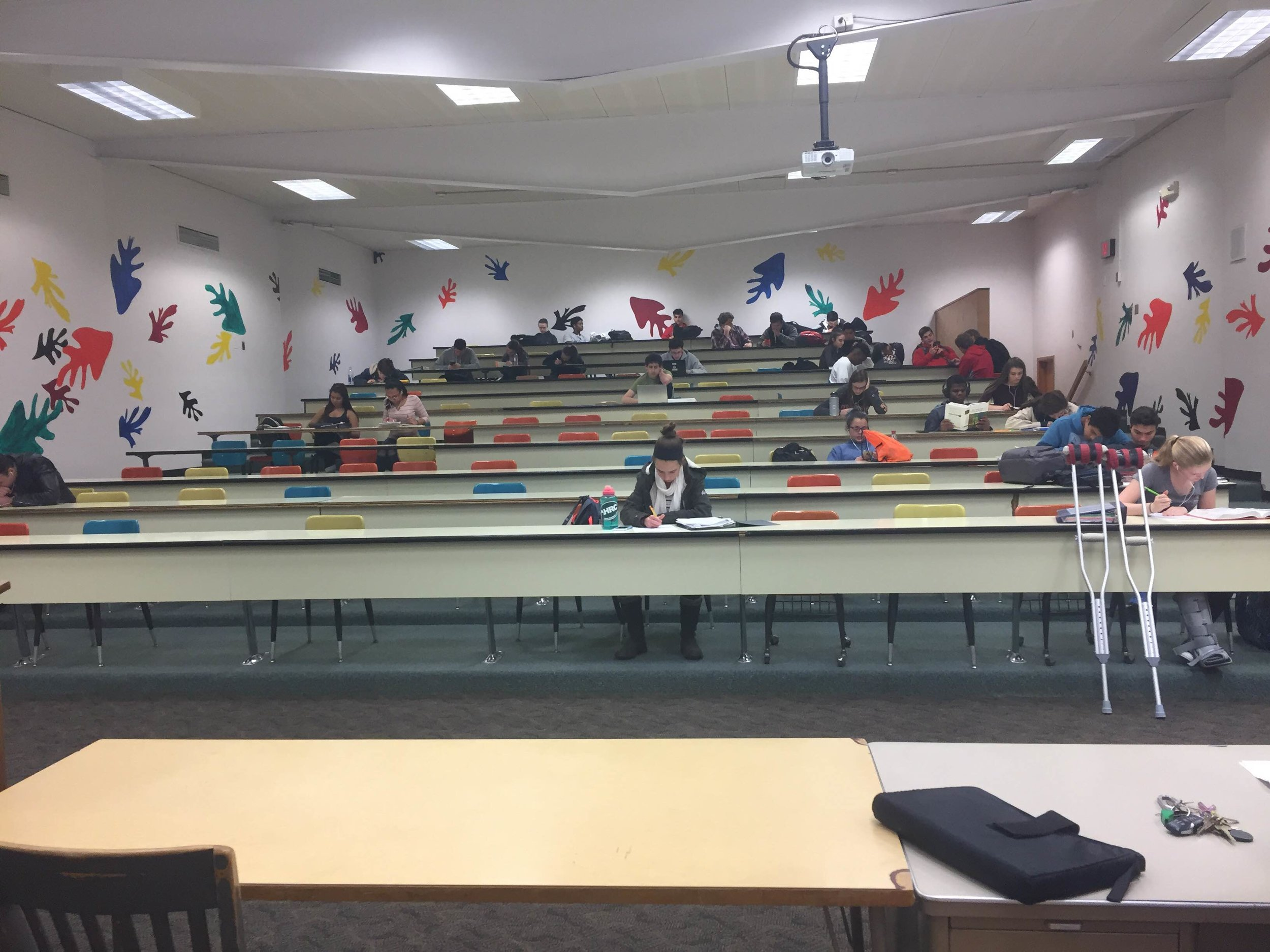 The large group room will be completely gutted and redone. Students returning in the Fall of 2018 can expect a very updated and modern room.