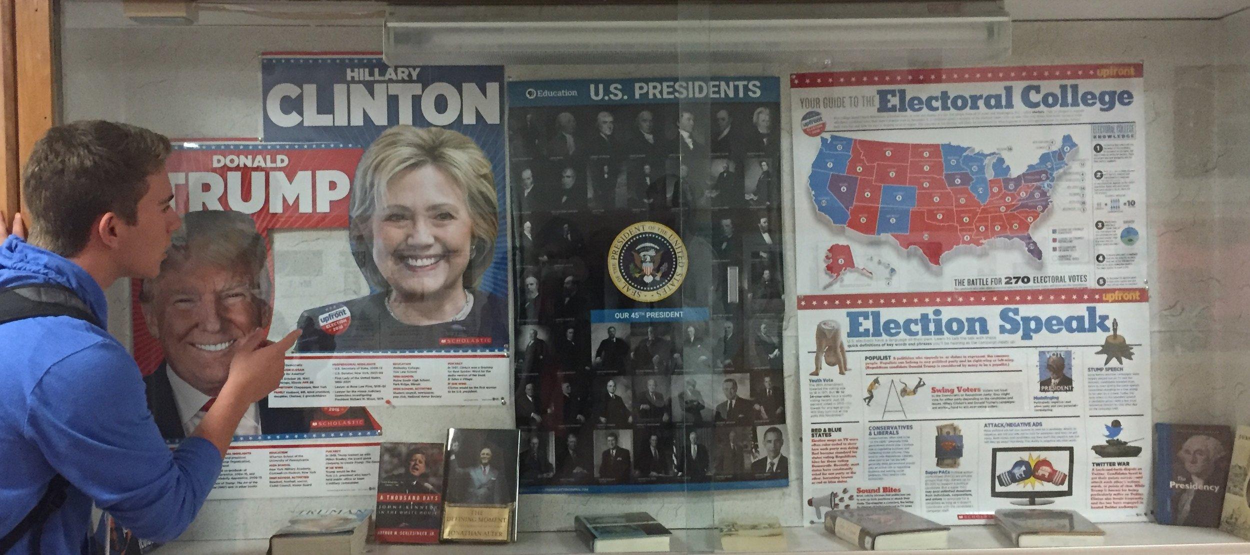 J-D senior Josh Kowalczyk analyzes election posters.