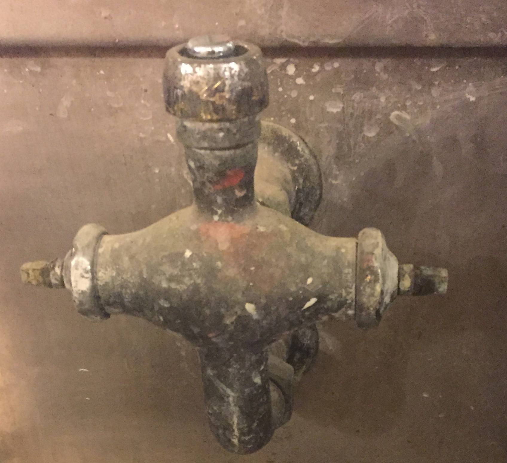 Faucets in the kiln room that tested at high levels. It has since been taken apart and plugged up to prevent accidental use.