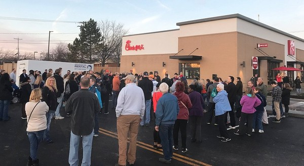 Photo of Chick-fil-A opening courtesy of syracuse.com