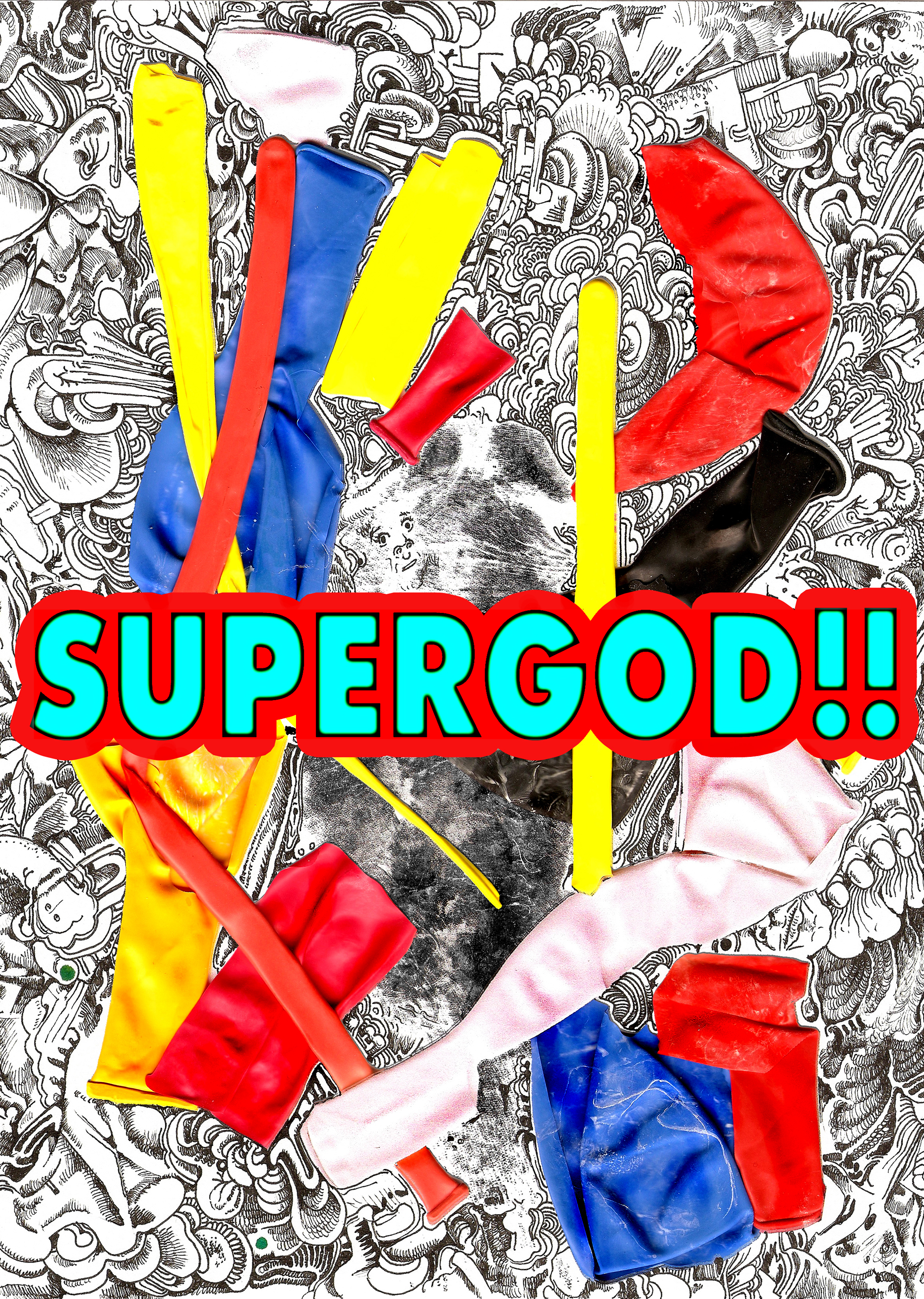 SUPERGOD! The Party Controls The Gun - vol Lazerbeam - front cover