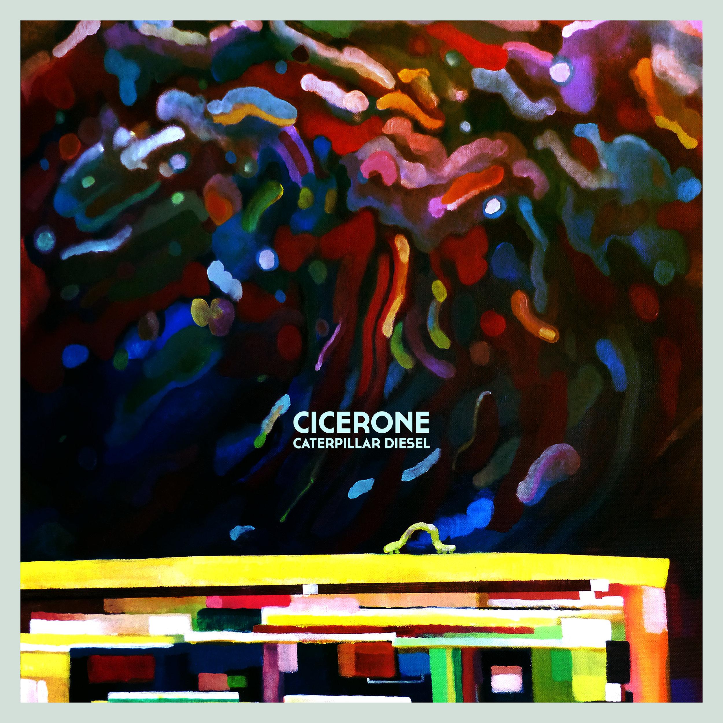 """Album cover for Cicerone's debut album """" Caterpillar Diesel """""""