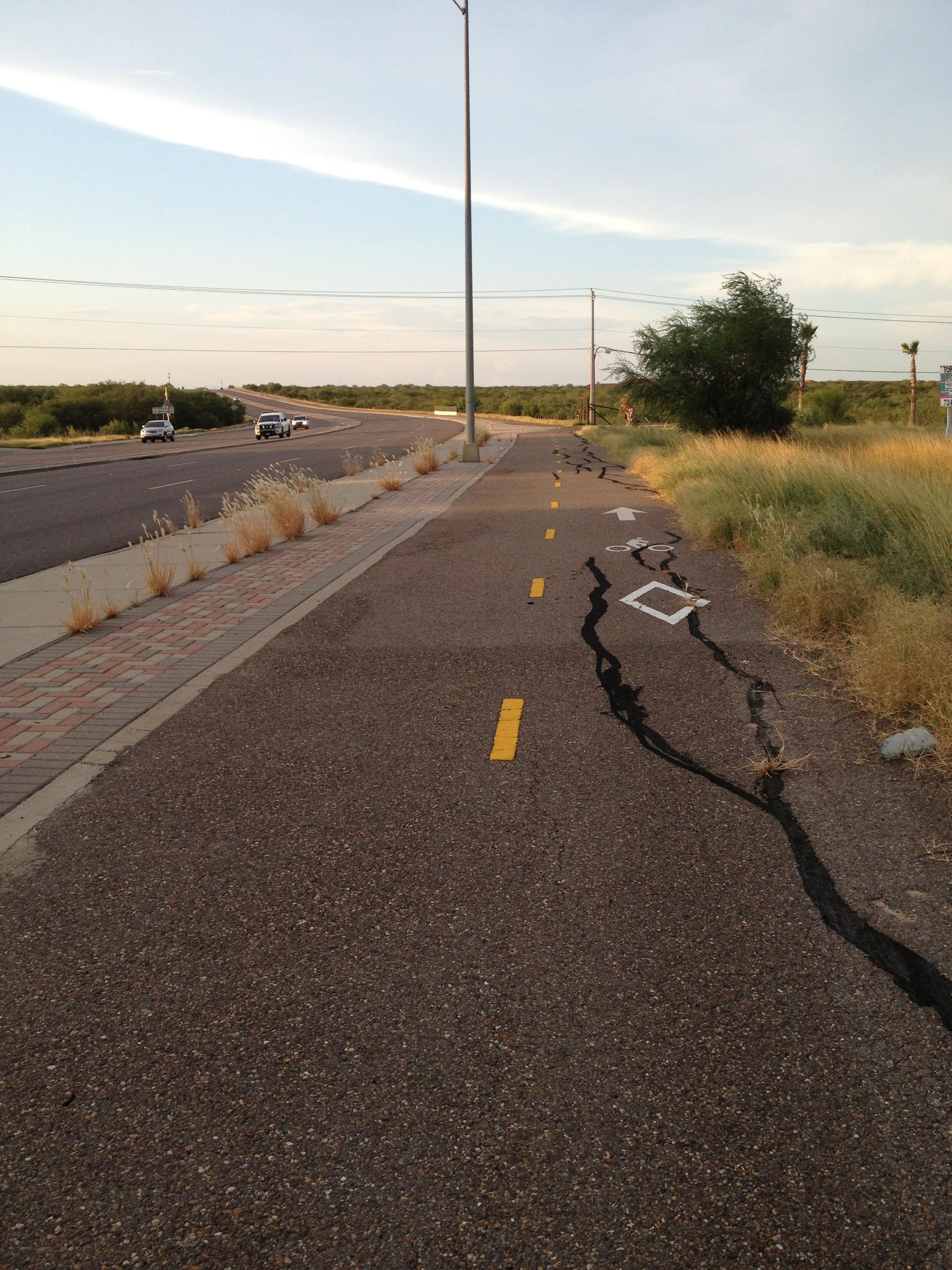 Bike Lane. Laredo, TX. Photo credit: Marisa Jones