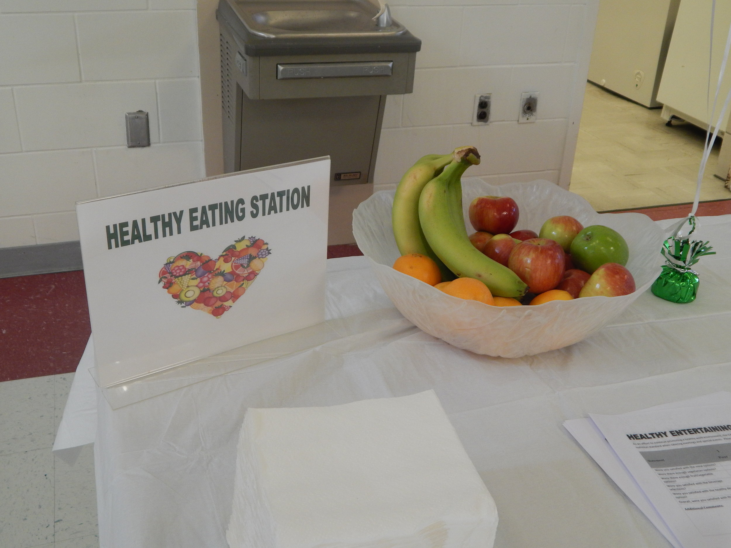 The City's Healthy Entertaining Nutritional Standards Guide and Healthy Vending Initiative have helped employees stay healthy in the workplace. The project was launched with a Wellness Lunch where employees learned how to implement the guidelines at all employee hosted meetings and events.