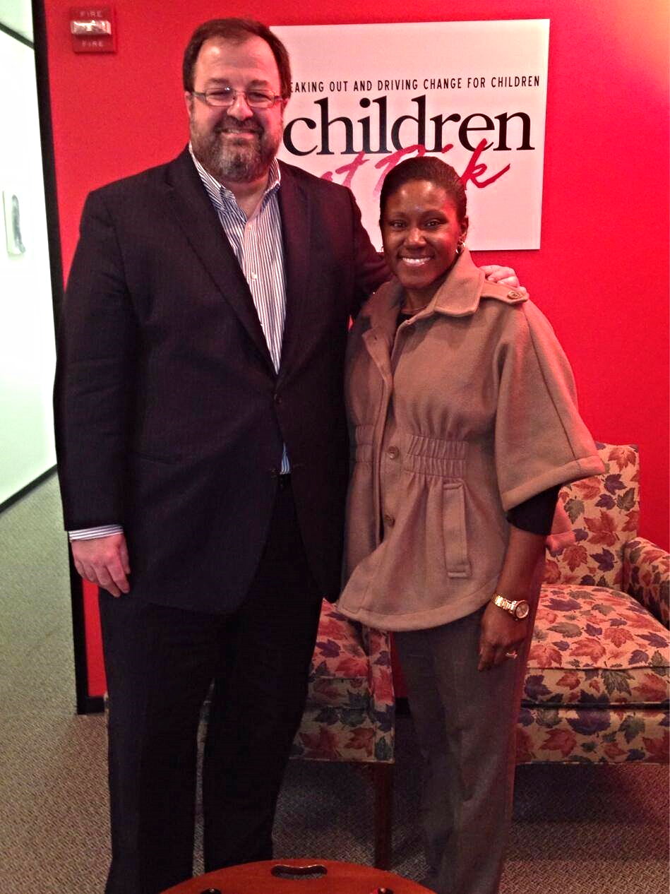 Me with Dr. Bob Sanborn, President and CEO of CHILDREN AT RISK.