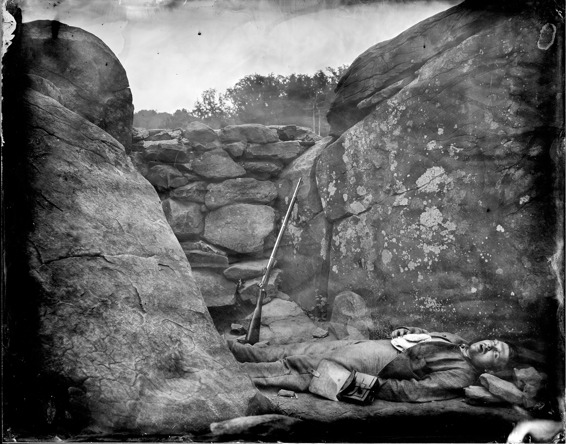 Sharpshooter's Den After Gardner, Gettysburg, 2013