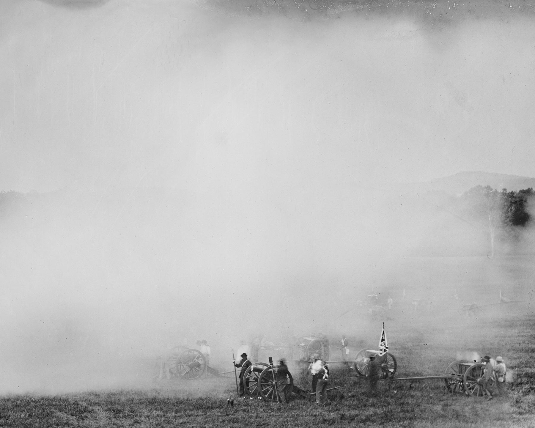 Artillery and Smoke,Gettysburg, 2011