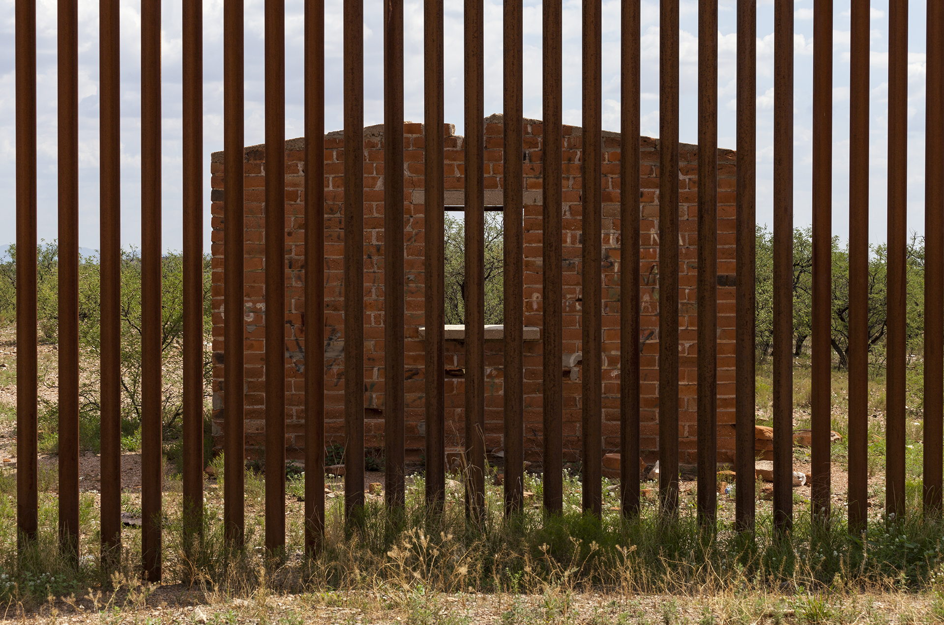 Looking into Mexico Through the Border Fence, 2012