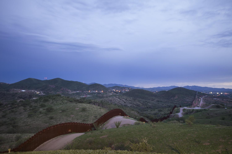 Border Fence Between Nogales, Mexico and Nogales, Arizona, 2012