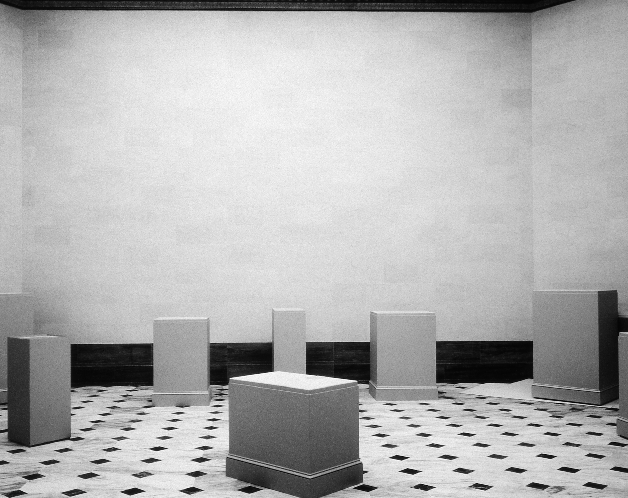 Pedestals, Installation View, 1995