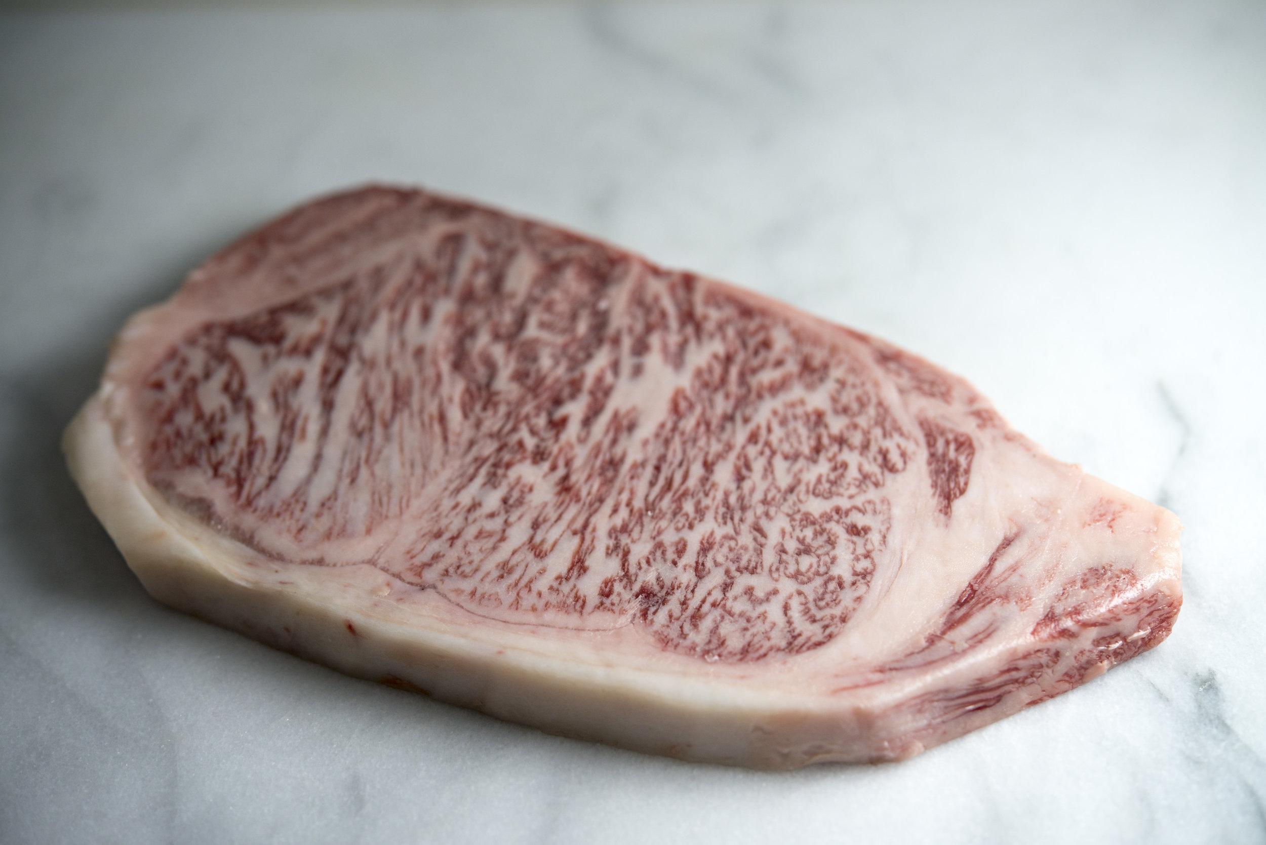 A5 Miyazakigyu Wagyu Beef Striploin Steaks 06.jpg