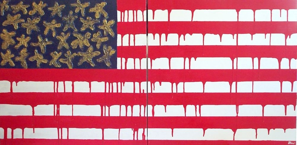 Status: The American Dream, 1998, Painting I with Dr. D. Anne Waters, OWCC