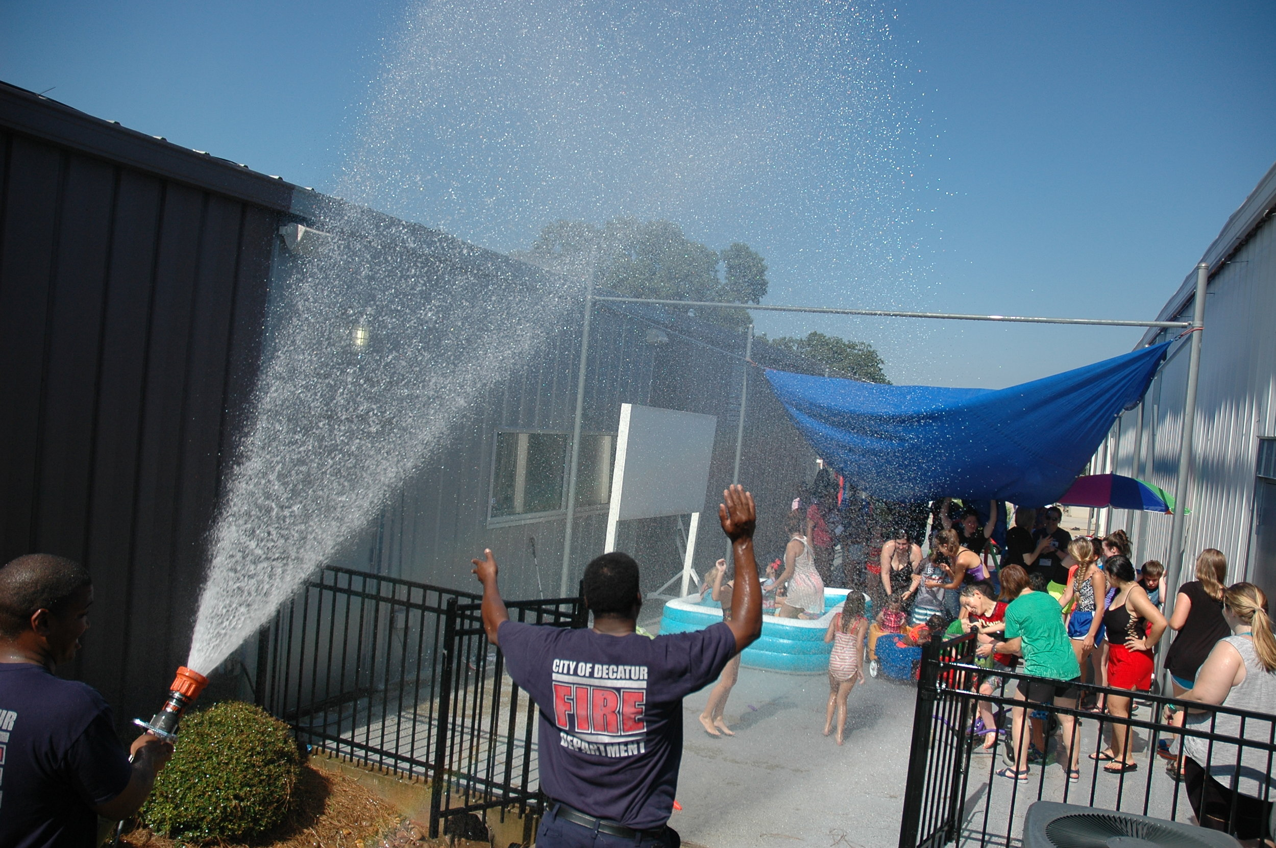 Water day is our campers' favorite day! Thank you City of Decatur Fire Department for spraying them with water.