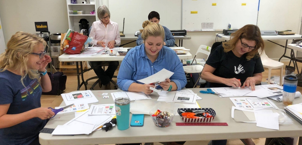 Getting Crafty - Our Full-time staff had a great time making adapted materials at our in-service training/Community Education Event with Jessie Moreau back in October.