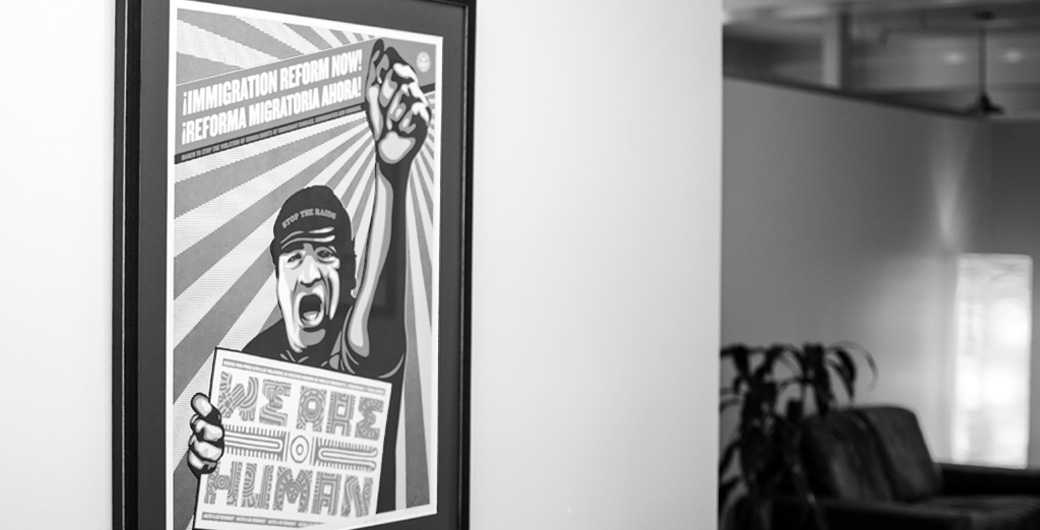 We are Human Poster by Shepard Fairey