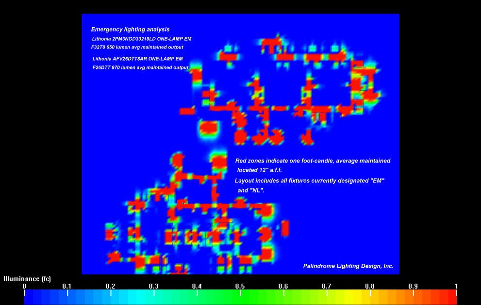 Egress lighting analysis