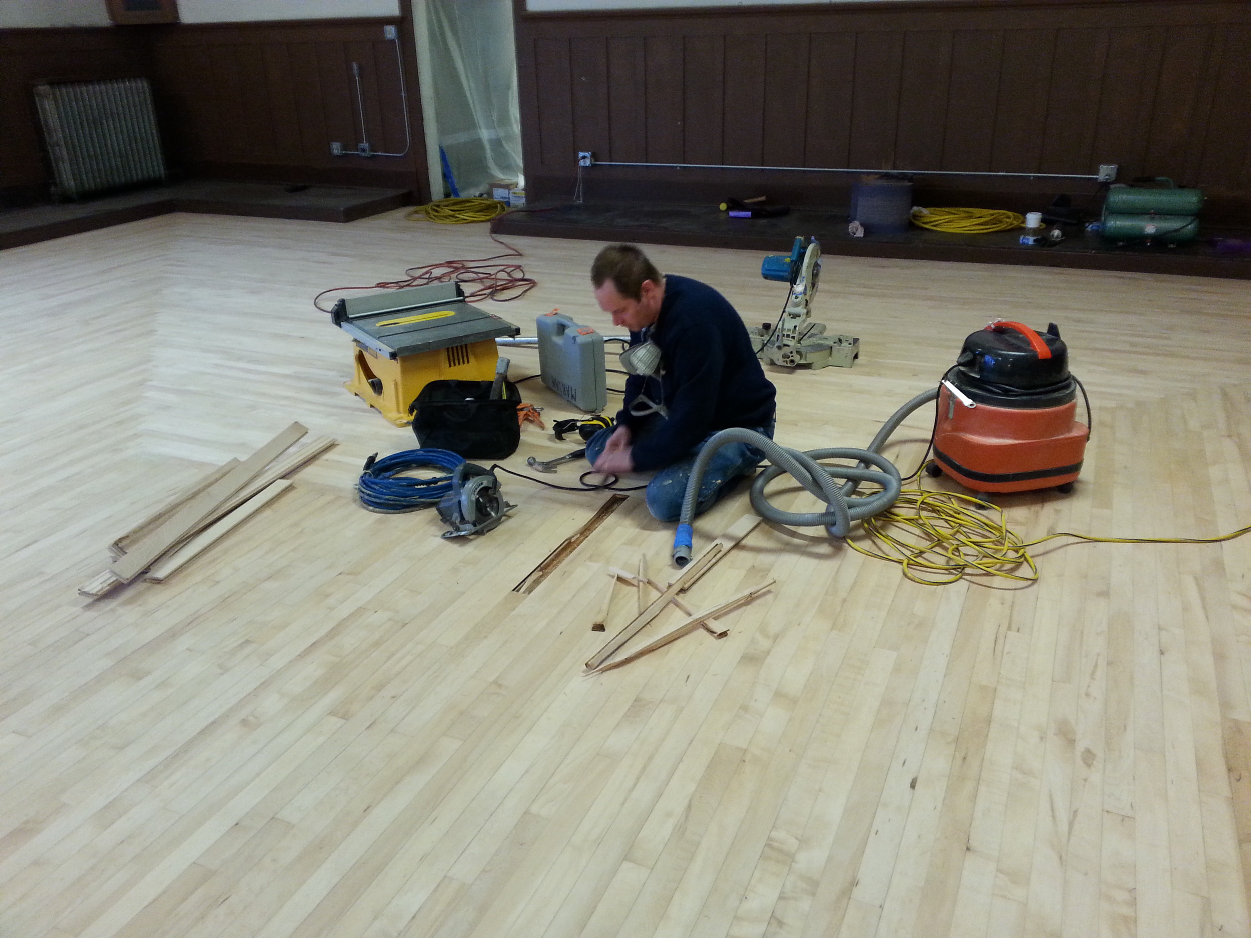 Marian replacing boards