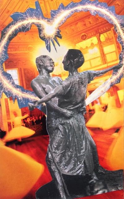 """SoulCollage® Card by Elise Crohn: """"The Couple -- Their Shadow and Light"""""""