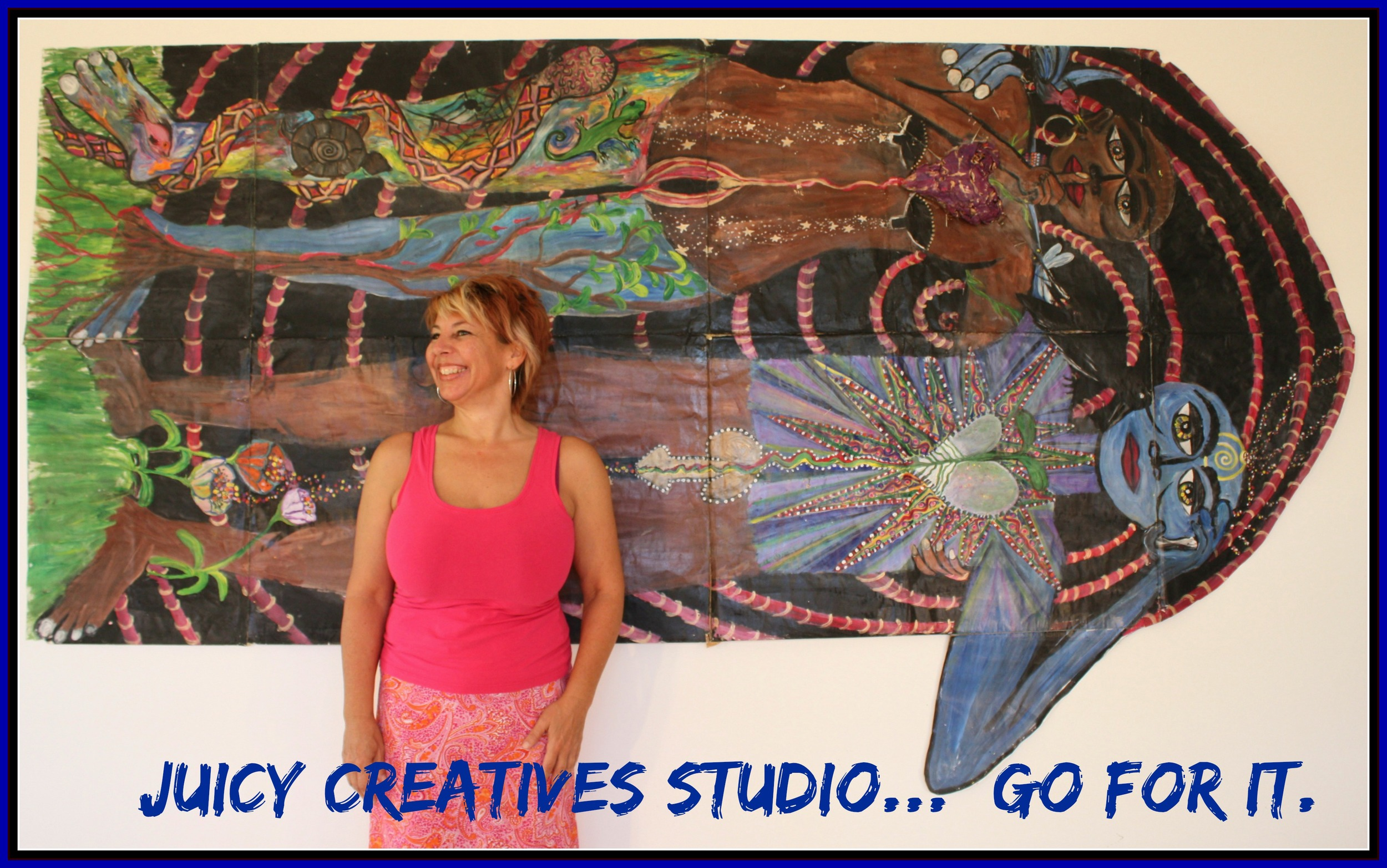 Elise Crohn owner of Juicy Creatives Studio--definitely GOING FOR IT!